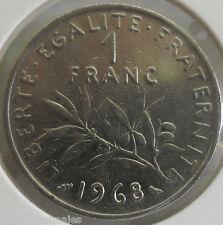 1 franc semeuse 1968 : SUP : pièce de monnaie française