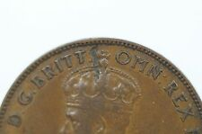 1933 Half Penny Metal Peel Variety in Fine Condition