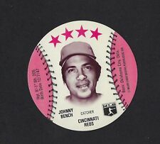1976 MSA Blank Back Discs JOHNNY BENCH Cincinnati Reds MINT