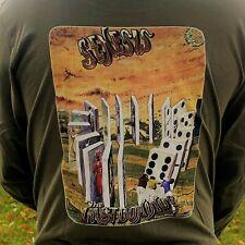 "Paul Whitehead Designs Genesis ""The Last Domino?"" Long sleeve shirt unisex"