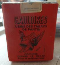 rare paquet de cigarrettes gauloise rouge  CGT Pantinoises Grève ouvrier