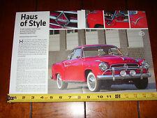 1960 BORGWARD ISABELLA COUPE - ORIGINAL 2013 ARTICLE