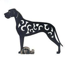 Figurine Great Dane BLACK dog statuette wood (MDF), statue
