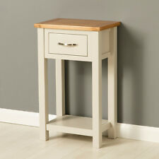 Roseland Furniture Mullion Painted Console Table With Drawer Wood Stone Grey