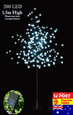 200LED 1.5M Cool White Cherry Blossom Solar Christmas Outdoor Tree