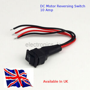DC Motor Reversing Switch 10Amp - Available in UK