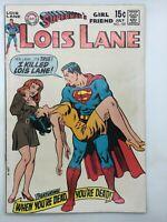 LOIS LANE SUPERMAN'S GIRLFRIEND #102 DC 1970 BRONZE AGE COMIC YOU'RE DEAD!