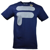 Men's FILA T-shirt - Reflective Classic Logo - Athletic Active Sportswear - Blue