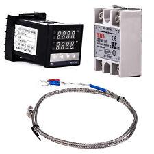 Digital 220V PID REX-C100 Temperature Controller + max.40A SSR + K Thermocouple