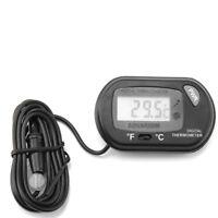 Mini termometro digitale temperatura °C/°F con sonda per acquario rettilario