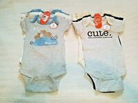Lot Of 6 Wonder Nation One Piece Bodysuit Baby Boy Clothes Size 3-6 Months NEW