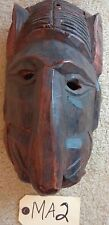 """TRIBAL WOOD CARVED MASK HEAD WOODEN  """"MA2"""""""