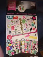 """Happy Planner """"TO-DO"""" 1486 STICKERS PRACTICAL + IMPORTANT, BOLD, CUTE QUOTES"""