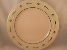 "Longaberger Woven Traditions Pottery 10"" Dinner Plate~Heritage Green~Usa~Mint!"