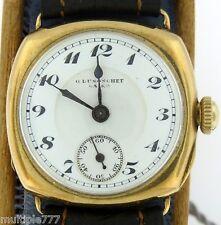 Antique Moeris 18KYG 15 Jewels Handwound Watch - Dusonchet Enamel Dial