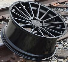 "21"" RF15 BLACK WHEELS FOR BMW F01 7 SERIES 740i 750LI XDrive 21x9.0 +28 RIMS SET"