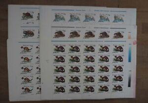 1997 Rumänien; 200 Serien Pelztiere, postfrisch/MNH, MiNr. 5228/33, ME 600,-