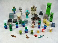 XBOX MINDCRAFT 44 PIECE FIGURE LOT INCLUDES LEGO MINI FIGURES