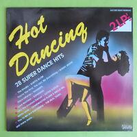 "2 LP HOT DANCING DINO MUSIC DLP 1901 28 SUPER DANCE HITS 12"" VINYL SCHALLPLATTEN"