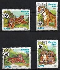 Laos 1994 Tigres (81) Yvert n° 1139 à 1142 oblitéré used