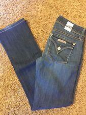Women's VGUC HUDSON Sz 25 Beth Baby Boot Cut Low Rise Flap Pocket Jeans