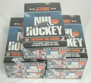 Lot Of (5) 1992-93 Score Hockey Canadian Edition Factory Sealed Wax Boxes
