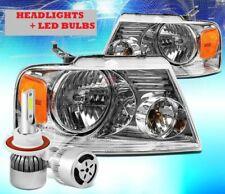 FOREST RIVER GEORGETOWN 2008 2009 HEADLIGHTS HEAD LIGHTS LAMP PAIR + LED BULB RV