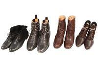 Vintage Ladies Lace Up Shoes Boots Leather Job Lot Wholesale x10 Pairs -Lot486