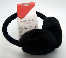 Vodafone Black Winter Earmuff Wired Headphones 3.5mm Ear Muff Muffs Warmer NEW