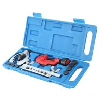 Double Brake Line Flaring Tool Set With Tubing Cutter Car Truck Repair Kit US