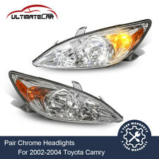 Pair Headlights Front Lamps Assembly For 2002 2004 Toyota Camry Leftright Side
