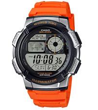 Casio Men's World Time Watch, Orange, AE-1000W-4BVCF Brand New in Box