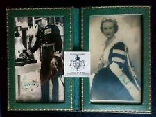 More details for unknown to me signed real photographs in frame. please use your zoom facility.