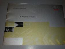 AUDI istruzioni per l'uso AUTORADIO CONCERT 38pagine 1999 ITALIANO