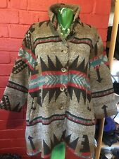 Be Louise Jacket Aztec Pattern Sz Med