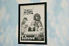 NUCLEAR ASSAULT Framed A4 1988 ` survive `ALBUM original band rare promo poster