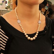 Necklace Woman Evening Marriage Pearl Crystal moonstone Lovely Gift FUN 2