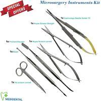 Microsurgery Kit Strumenti Castroviejo Molt.9 Noyes Forbici Dissezione Borgo Ce