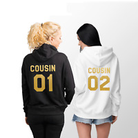 Cousin 01 Cousin 02 Matching Hoodies Gift Ideas For Family Reunion Custom Number