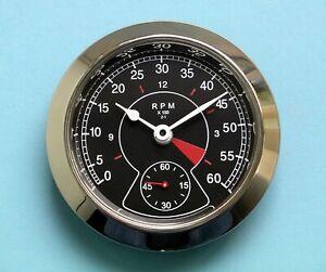 65mm BEZEL Quartz Clock insert black rev counter dial