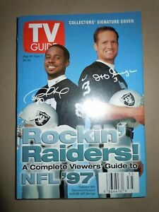 TV GUIDE - 1997 NFL Preview OAKLAND RAIDERS Cover JEFF GEORGE, DESMOND HOWARD