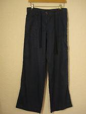Mezcla de lino azul siguiente Pantalones 6-8