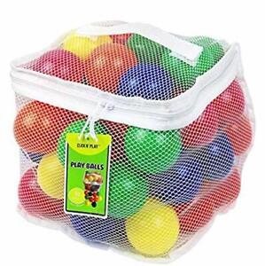 50 Pelotas De Plastico Colores Sin BPA No Toxico Para Bebés Niños Niñas Seguras