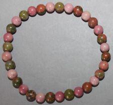 "Bracelet Rhodonite et Unakite 6 mm ""Large"""