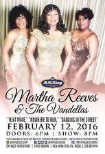 MARTHA REEVES & THE VANDELLAS 2016 NEW YORK CONCERT TOUR POSTER - R&B, Soul, Pop