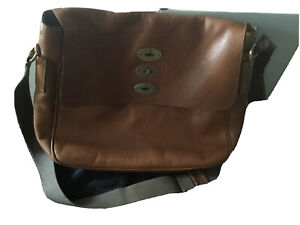 MULBERRY mens genuine leather messenger shoulder bag