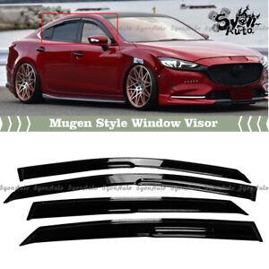 FITS 2014-2021 MAZDA 6 3D JDM MUGEN STYLE WINDOW VISOR RAIN GUARD DEFLECTOR VENT