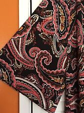 3X Black Pink Duster Long Print KIMONO Jacket Blouse Top Plus 24/26/28