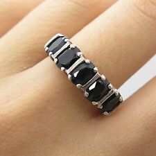 925 Sterling Silver Natural Sapphire Gemstone Ring Size 7 1/4