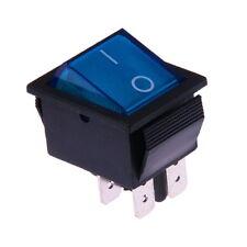 Interruttore a Bilanciere 12V Bipolare Luminoso On/Off 31x26mm Blu Illuminato